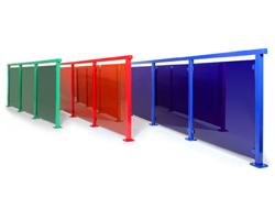 Alu Color – Glasgelænder i valgfri farve