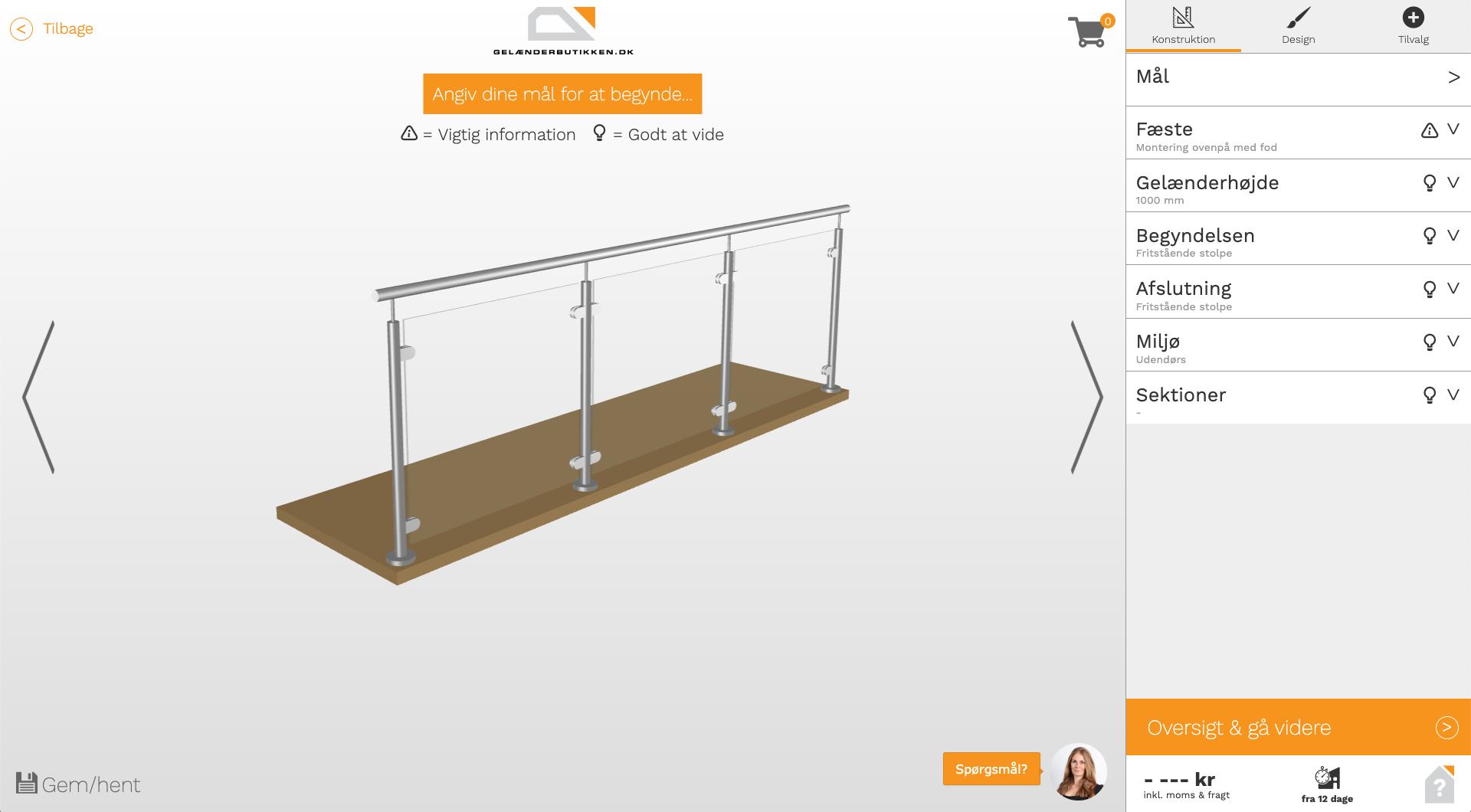 Screenshot af designværktøjet