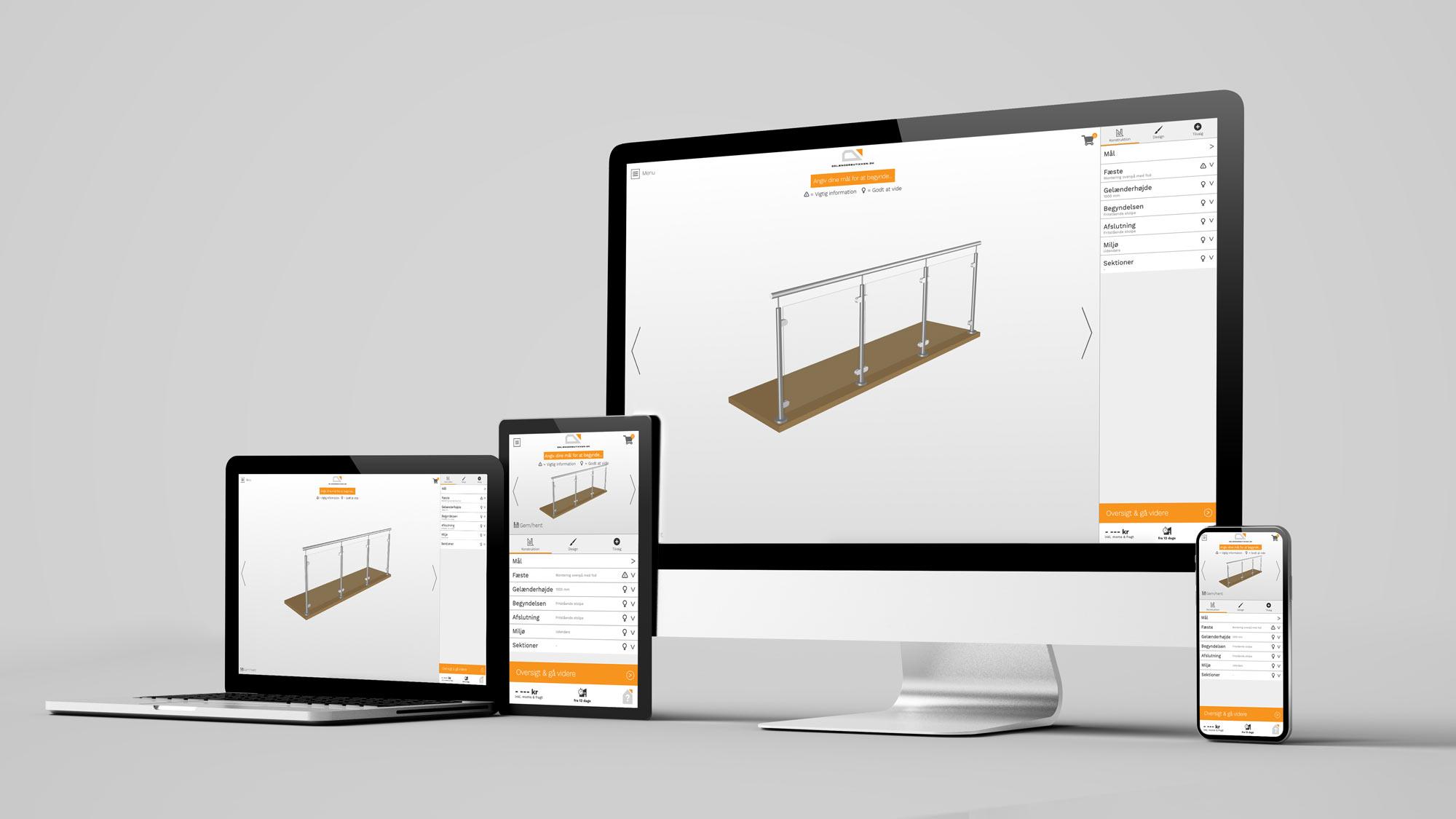 Designværktøjet er nemt at anvende på både computere, tablets og smartphones.